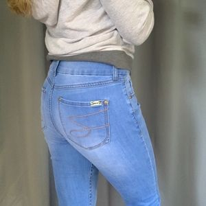 Seven7 Skinny Faded Jeans